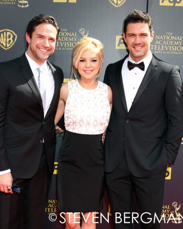 Brandon Barash, Kirsten Storms and Ryan Paevey
