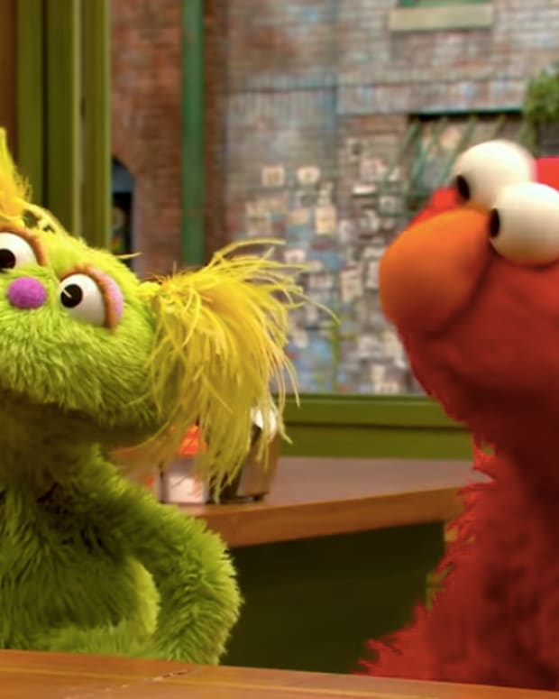 Sesame Street-Karli and Elmo