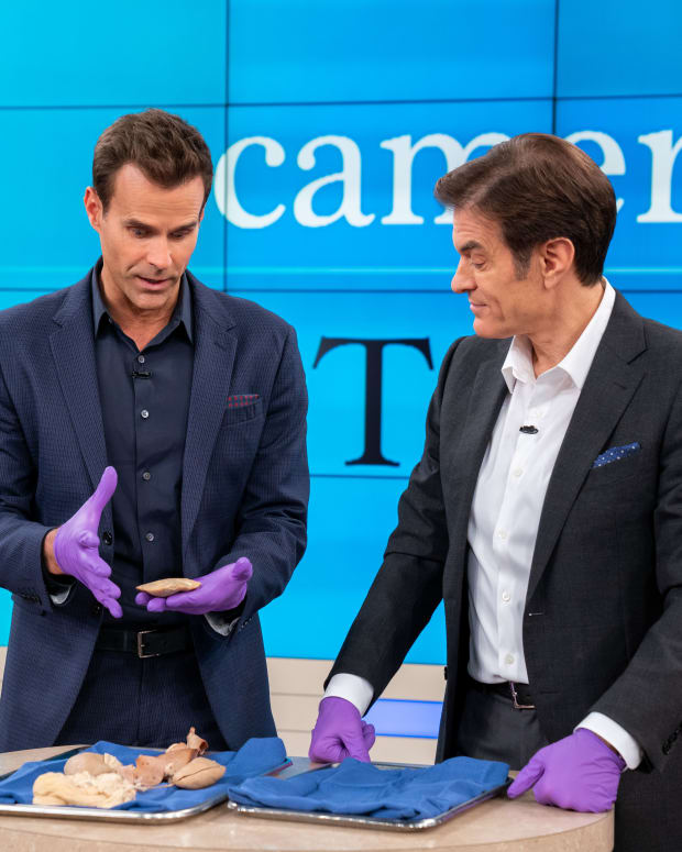 Dr. Oz and Cameron Mathison