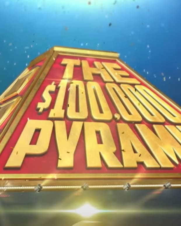 The 100,000 Pyramid Logo