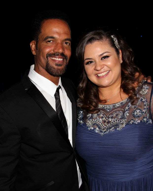 Kristoff St. John and Angelica McDaniel