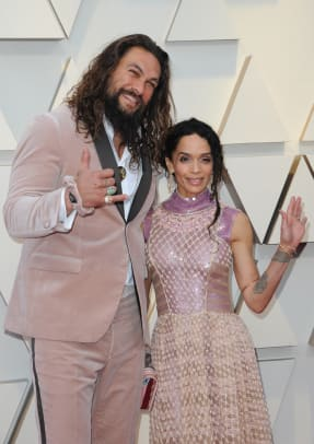 Jason Moma and Lisa Bonet