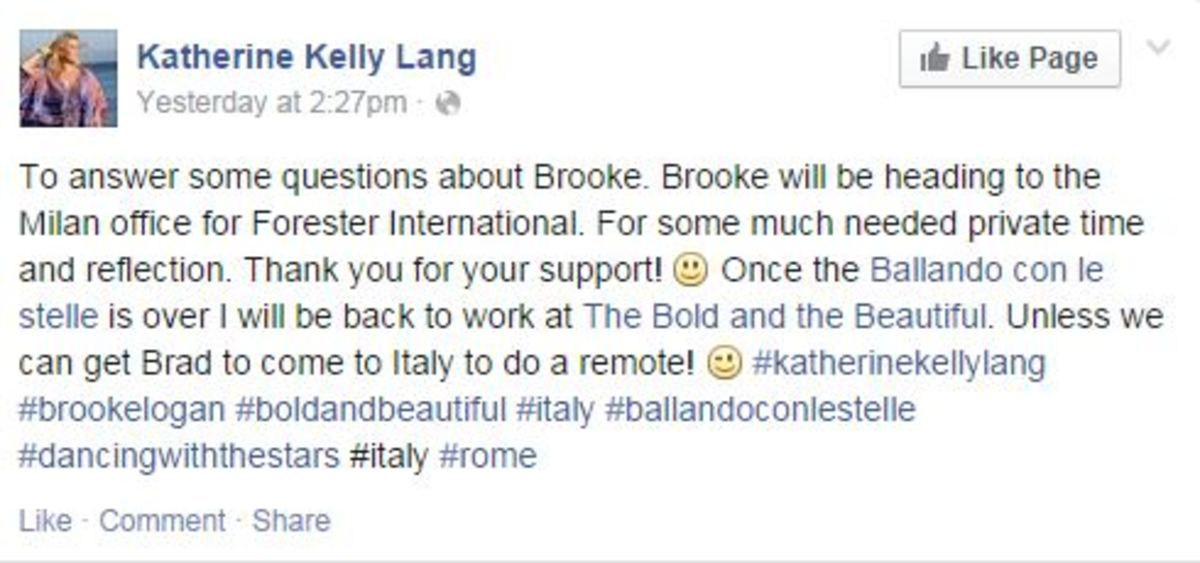 katherine kelly lang FB