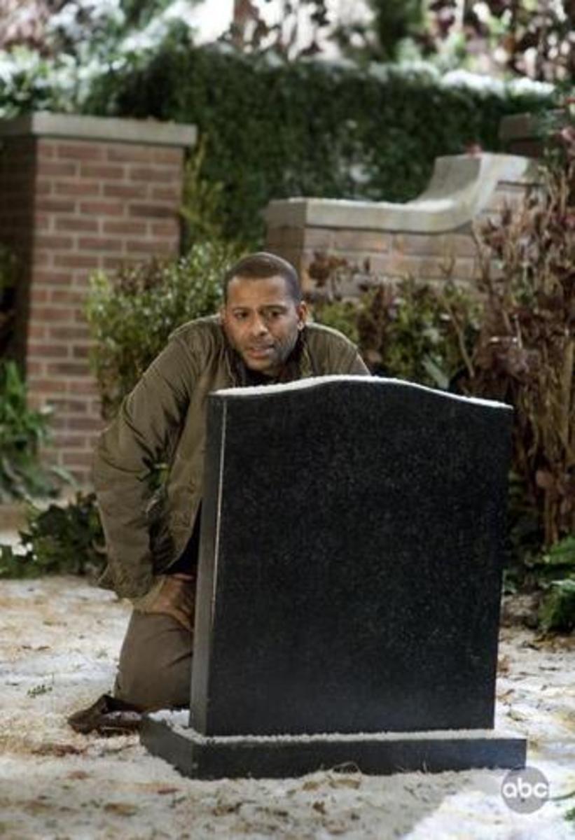 Jesse at Gravesite