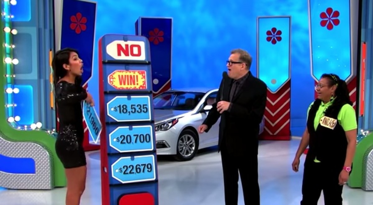 Manuela Arbelaez, Drew Carey and a Contestant