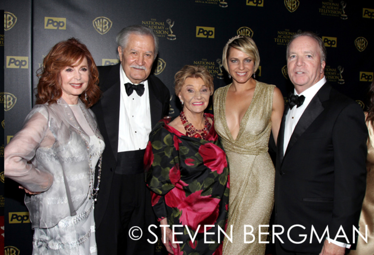 Suzanne Rogers, John Aniston, Peggy McCay, Arianne Zucker and Ken Corday