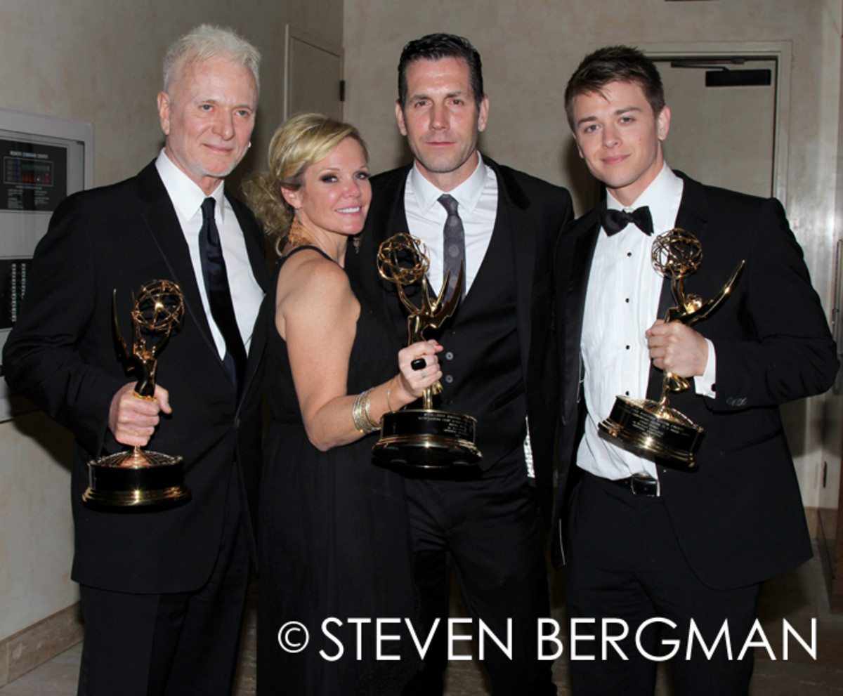 Anthony Geary, Maura West, Frank Valentini and Chad Duell