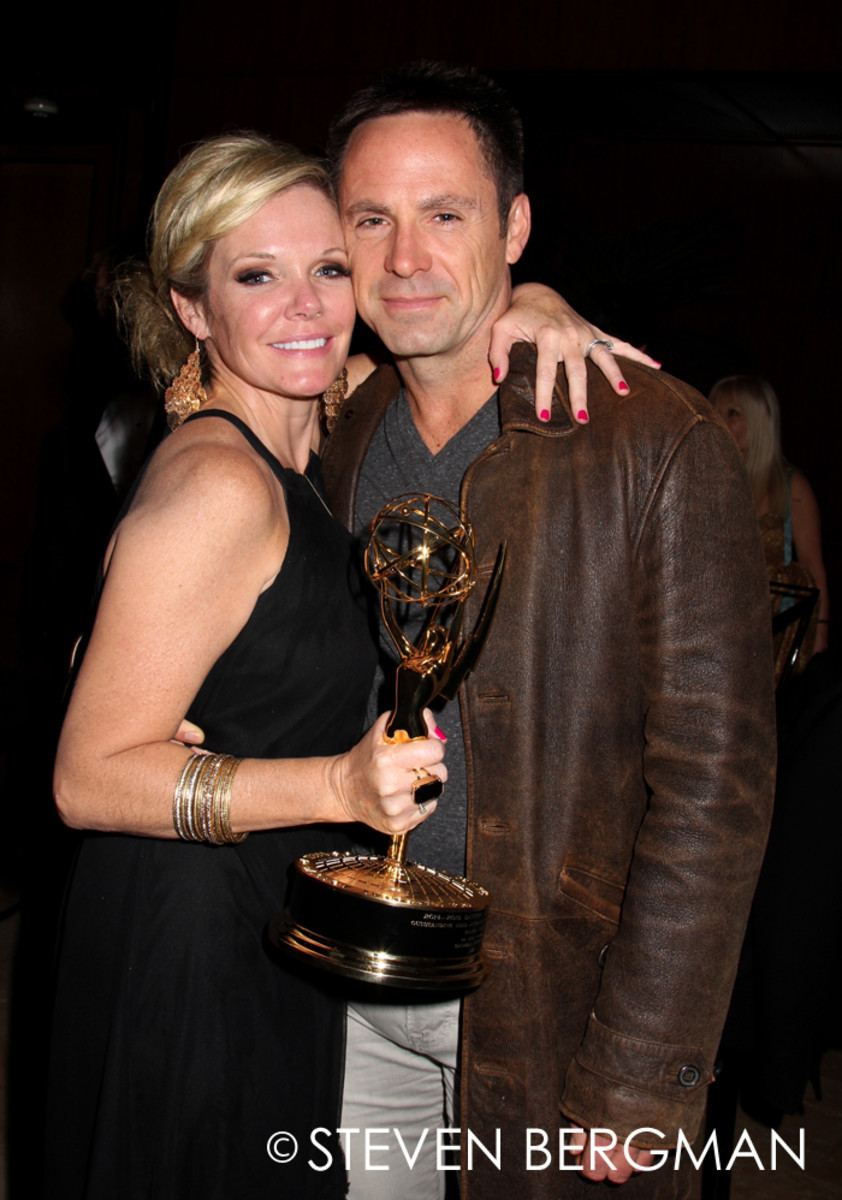 Maura West and William deVry