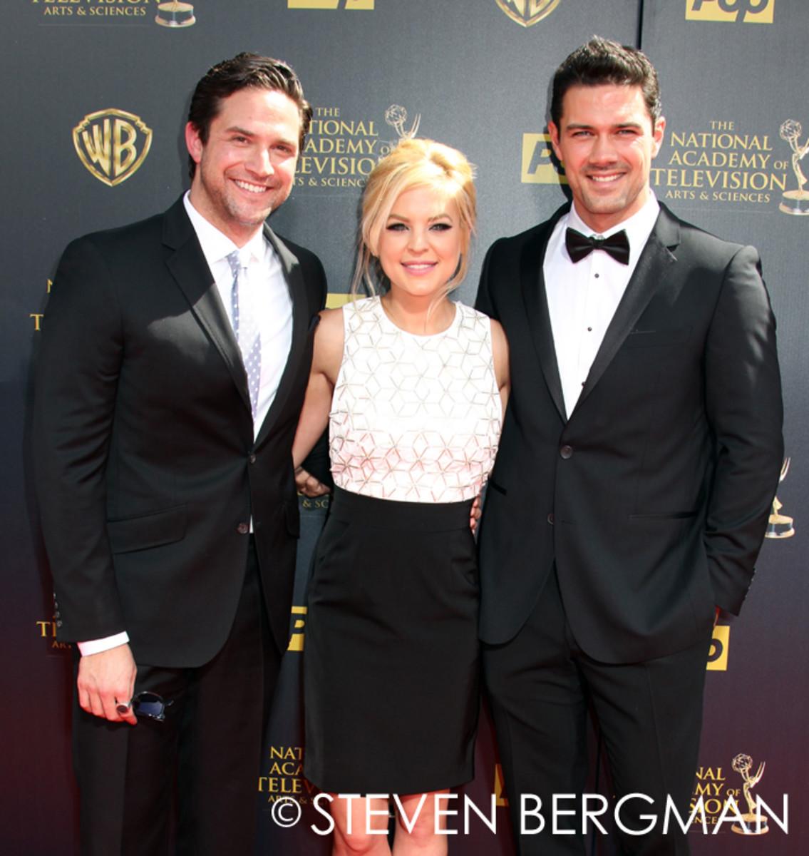 Brandon Barash, Kirsten Storms and Ryan Paevey