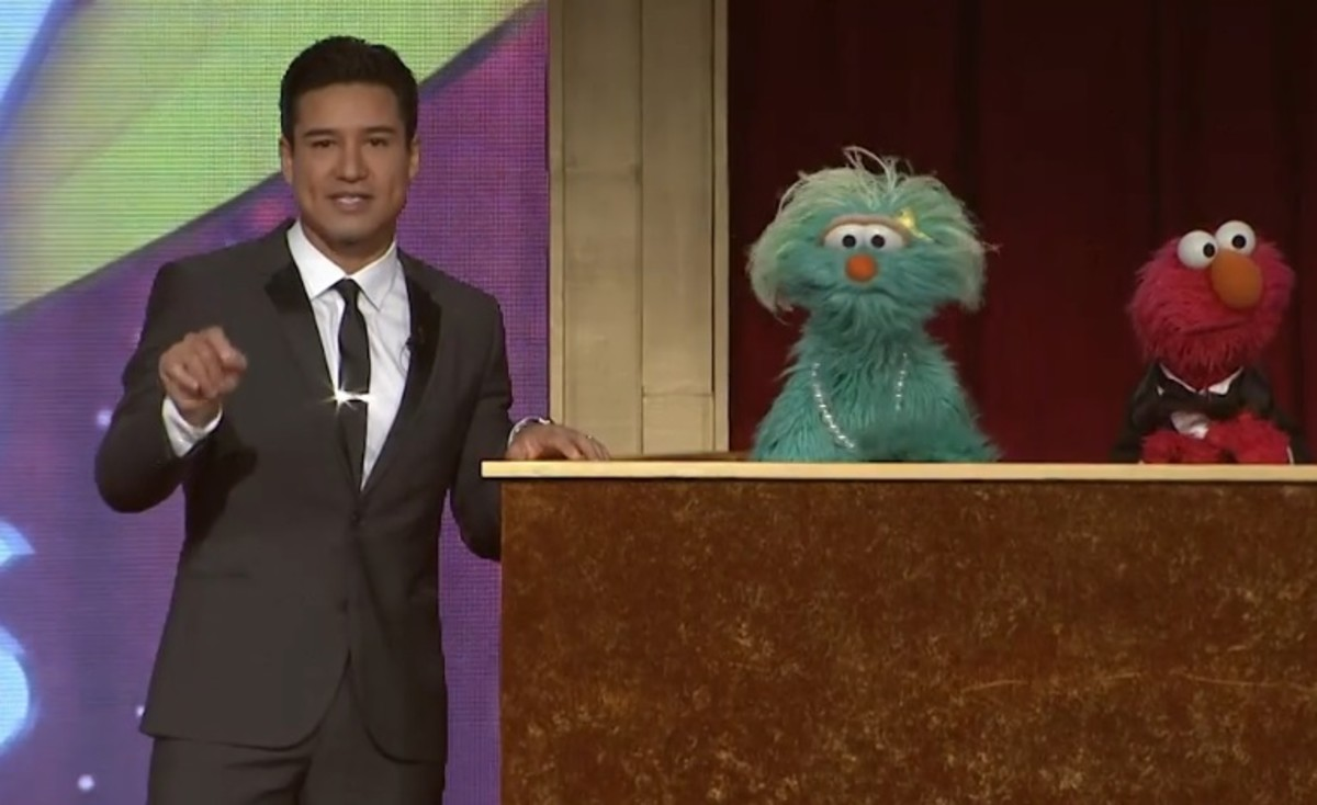 Mario Lopez and Muppets