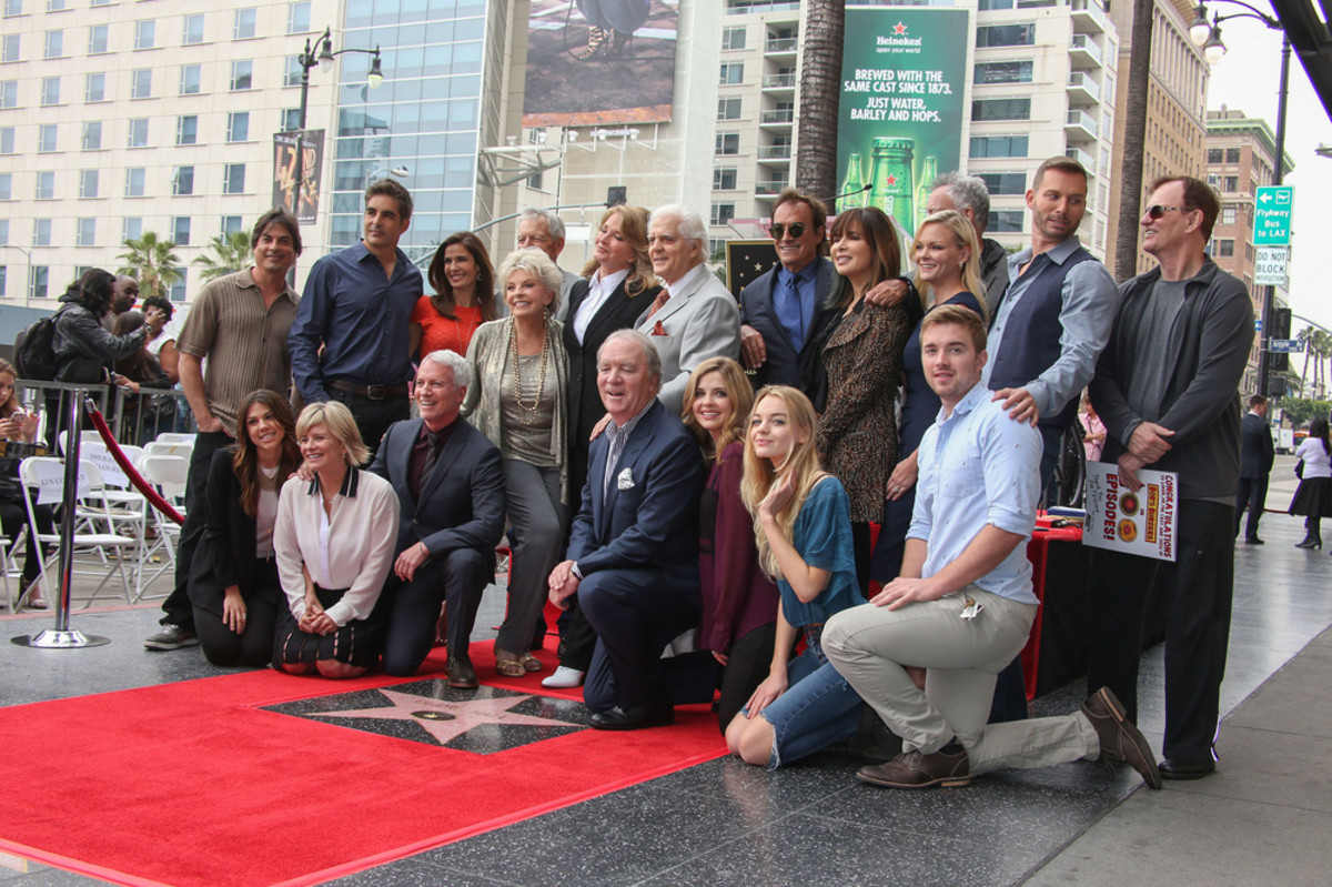 Deidre Hall with Day of Our Lives cast members