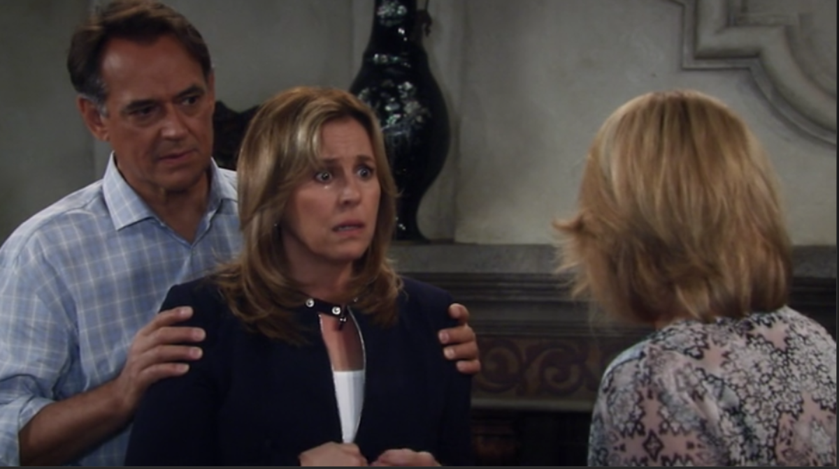 Laura (Genie Francis) and Kevin (Jon Lindstrom) get bad news from Ava (Maura West),