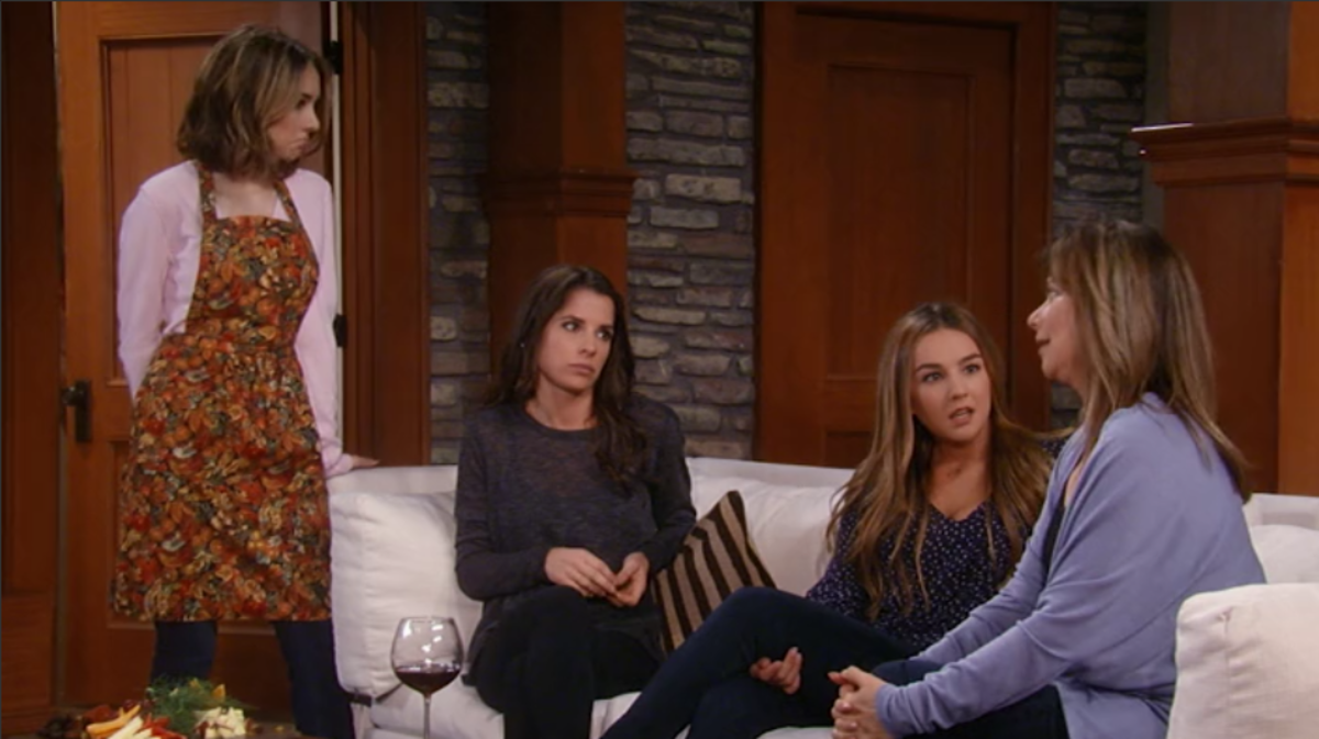 Haley Pullos, Kelly Monaco, Lexi Ainsworth, Nancy Lee Grahn