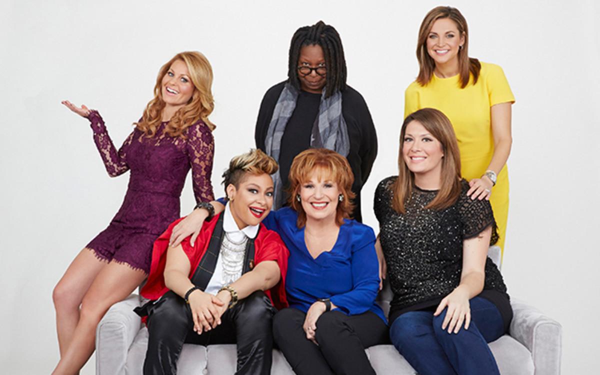 Candace Cameron, Raven-Symone, Whoopi Goldberg, Joy Behar, Michelle Collins, Paula Faris/ABC