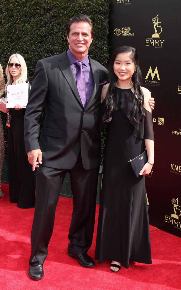 John Enos with niece