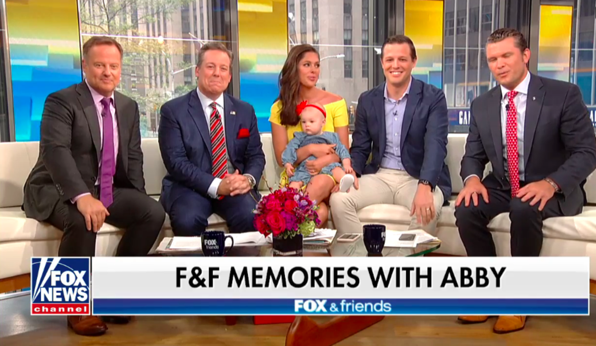 Fox & Friends hosts with Abby Huntsman (center left)
