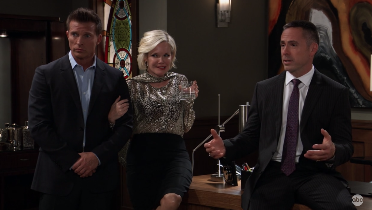 Steve Burton, Maura West, William deVry