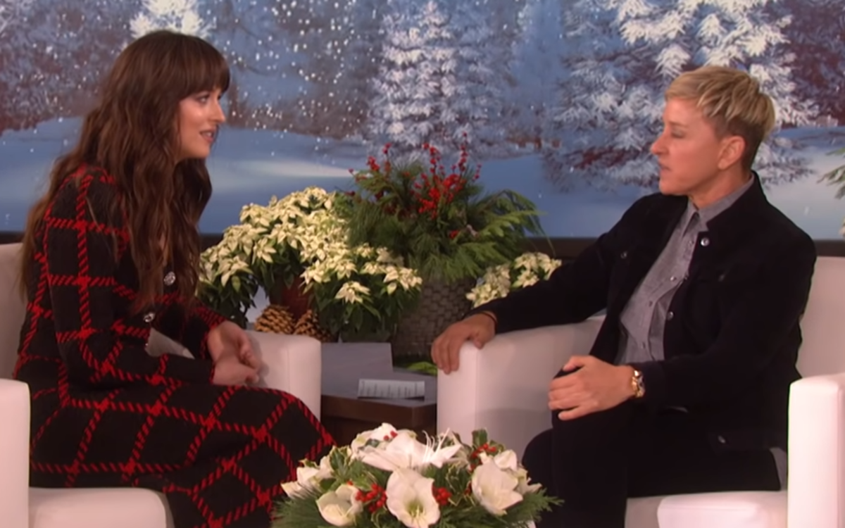Ellen DeGeneres and Dakota Johnson