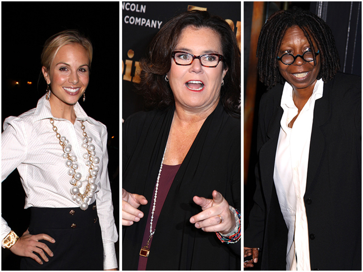 Elisabeth Hasselbeck, Rosie O'Donnell, Whoopi Goldberg