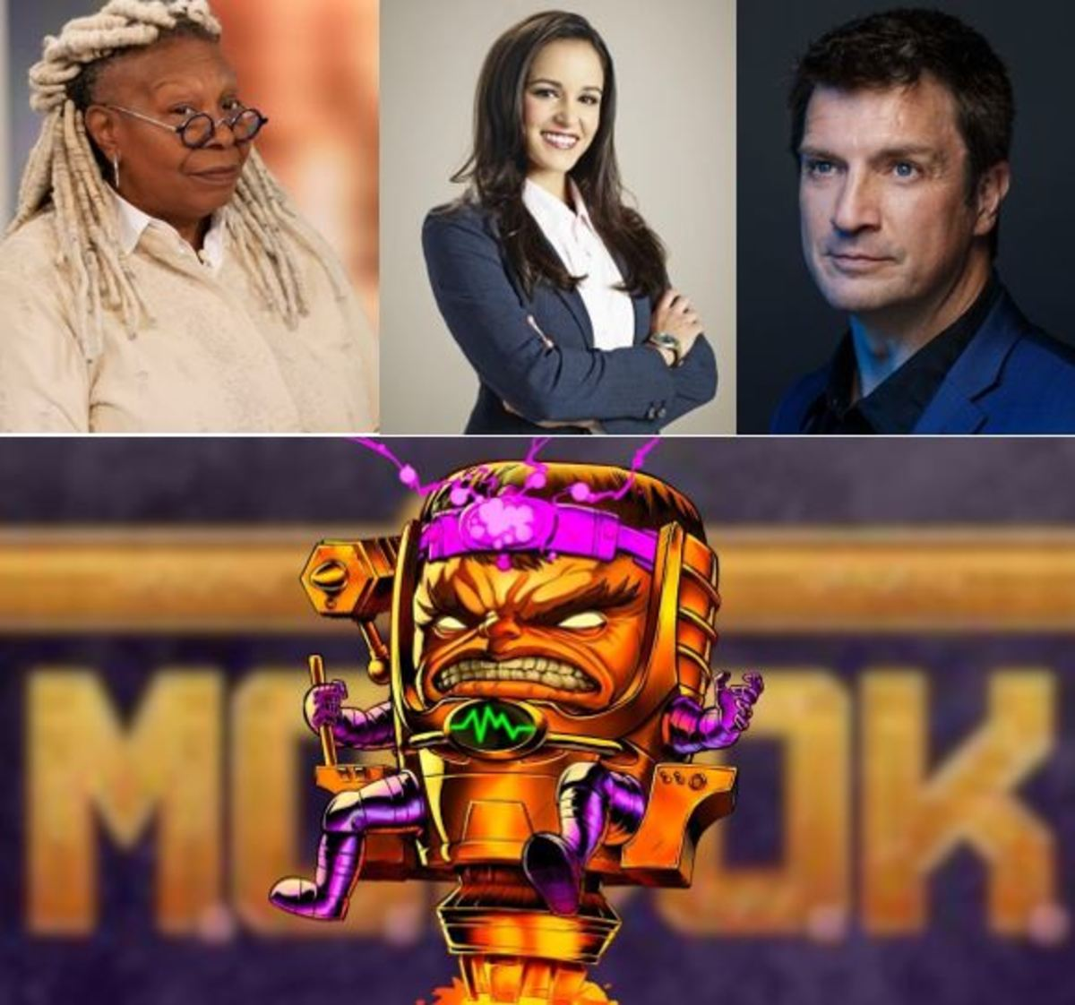 Whoopi Goldberg, Melissa Fumero, Nathan Fillion