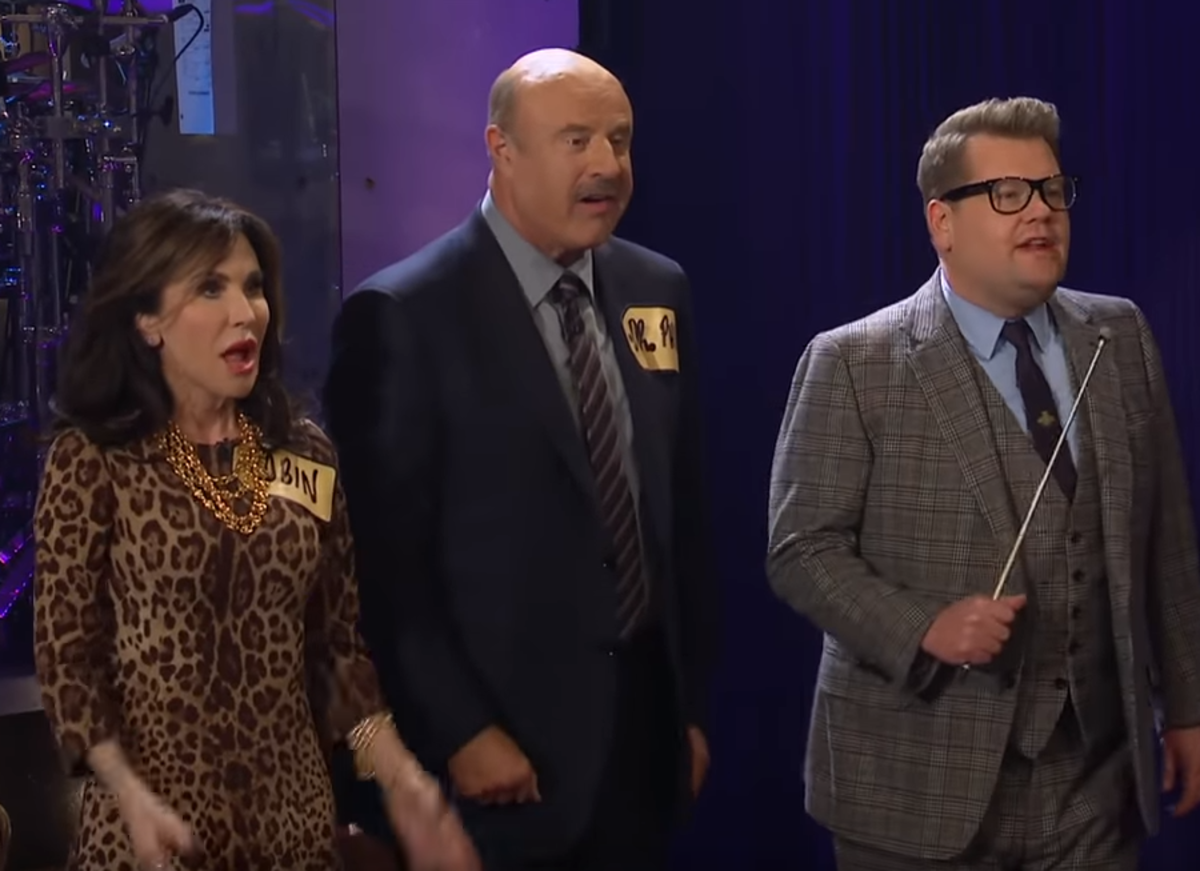 Robin McGraw, Dr. Phil McGraw, James Corden