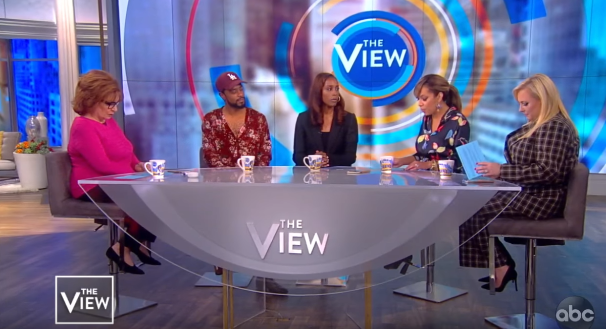 Joy Behar, LaKeith Stanfield, Issa Rae, Sunny Hostin, Meghan McCain