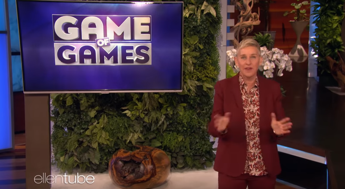 Ellen Game of Games Announcement
